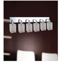 CWI Lighting 4286W-RC-S-(CLEAR) Glitz 6 Light 5 inch Chrome Wall Sconce Wall Light