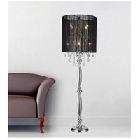 CWI Lighting 5002F20C(B) Sheer 67 inch 60 watt Chrome Floor Lamp Portable Light