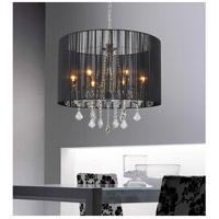 CWI Lighting 5002P24C(B) Sheer 6 Light 24 inch Chrome Chandelier Ceiling Light