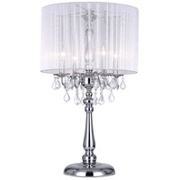 Sheer 32 inch 60 watt Chrome Table Lamp Portable Light
