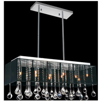 CWI Lighting 5005P32C(B-C) Water Drop 10 Light 13 inch Chrome Chandelier Ceiling Light