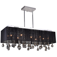 CWI Lighting 5005P32C(B-S) Water Drop 10 Light 32 inch Chrome Island Chandelier Ceiling Light