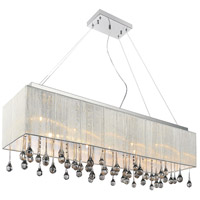 CWI Lighting 5005P32C(S-S) Water Drop 10 Light 32 inch Chrome Drum Shade Chandelier Ceiling Light