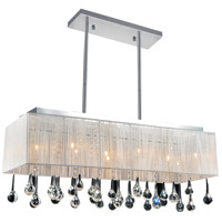 CWI Lighting 5005P32C(W-S) Water Drop 10 Light 32 inch Chrome Island Chandelier Ceiling Light