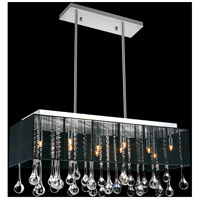 Water Drop 10 Light 13 inch Chrome Chandelier Ceiling Light