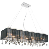 CWI Lighting 5005P40C(B-C) Water Drop 14 Light 15 inch Chrome Chandelier Ceiling Light
