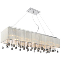 CWI Lighting 5005P40C(W-S) Water Drop 14 Light 40 inch Chrome Drum Shade Chandelier Ceiling Light