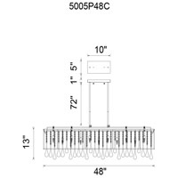 CWI Lighting 5005P48C(B-S) Water Drop 17 Light 48 inch Chrome Island Chandelier Ceiling Light