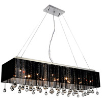 CWI Lighting 5005P48C(B-S) Water Drop 17 Light 48 inch Chrome Drum Shade Chandelier Ceiling Light