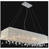 CWI Lighting 5005P48C(S-C) Water Drop 17 Light 48 inch Chrome Drum Shade Chandelier Ceiling Light
