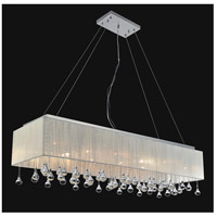 Water Drop 17 Light 48 inch Chrome Island Chandelier Ceiling Light