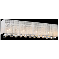 CWI Lighting 5005W24C-RC (W) Water Drop 4 Light 5 inch Chrome Vanity Light Wall Light