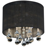 CWI Lighting 5006C10C-R (B) Water Drop 4 Light 10 inch Chrome Drum Shade Flush Mount Ceiling Light