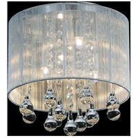 CWI Lighting 5006C10C-R (S) Water Drop 4 Light 10 inch Chrome Drum Shade Flush Mount Ceiling Light