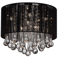 CWI Lighting 5006C14C-R-(B) Water Drop 6 Light 14 inch Chrome Flush Mount Ceiling Light