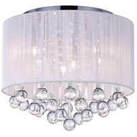 CWI Lighting 5006C14C-R-(W) Water Drop 6 Light 14 inch Chrome Flush Mount Ceiling Light
