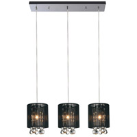 CWI Lighting 5006P24C-RC-3-(B) Water Drop 3 Light 7 inch Chrome Pendant Ceiling Light