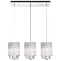 CWI Lighting 5006P24C-RC-3-(S) Water Drop 3 Light 24 inch Chrome Chandelier Ceiling Light