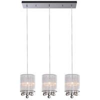 CWI Lighting 5006P24C-RC-3-(W) Water Drop 3 Light 24 inch Chrome Chandelier Ceiling Light