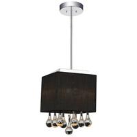CWI Lighting 5006P6C-S (B) Water Drop 1 Light Chrome Drum Shade Mini Pendant Ceiling Light