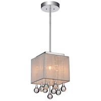 CWI Lighting 5006P6C-S-(S) Water Drop 1 Light 6 inch Chrome Pendant Ceiling Light