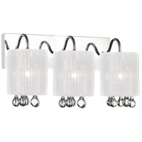 CWI Lighting 5006W18C-3-(S) Water Drop 3 Light 18 inch Chrome Wall Sconce Wall Light