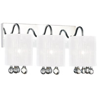 CWI Lighting 5006W18C-3-(W) Water Drop 3 Light 18 inch Chrome Wall Sconce Wall Light