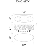 CWI Lighting 5008C32ST-O Eternity 8 Light 32 inch Chrome Flush Mount Ceiling Light