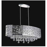 CWI Lighting 5008P32ST-O Eternity 8 Light 32 inch Chrome Chandelier Ceiling Light