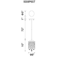 CWI Lighting 5008P6ST Eternity 1 Light 6 inch Chrome Pendant Ceiling Light