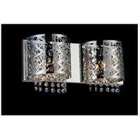CWI Lighting 5008W16ST-R-2 Eternity 2 Light 4 inch Chrome Wall Sconce Wall Light