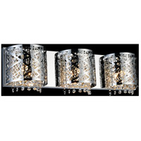 CWI Lighting 5008W25ST-R-3 Eternity 3 Light 4 inch Chrome Wall Sconce Wall Light