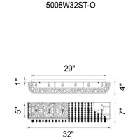 CWI Lighting 5008W32ST-O Eternity 5 Light 5 inch Chrome Wall Sconce Wall Light