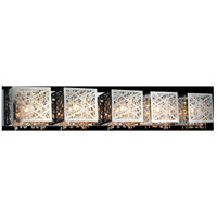 CWI Lighting 5008W39ST-S-5 Eternity 5 Light 39 inch Chrome Wall Sconce Wall Light photo thumbnail