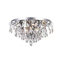 CWI Lighting 5011C18C-(CLEAR) Charismatic 8 Light 18 inch Chrome Flush Mount Ceiling Light