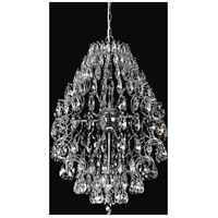 CWI Lighting 5011P16C-(CLEAR) Charismatic 9 Light 16 inch Chrome Chandelier Ceiling Light