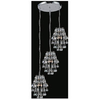 CWI Lighting 5011P24C-R-(CLEAR) Charismatic 6 Light 24 inch Chrome Chandelier Ceiling Light
