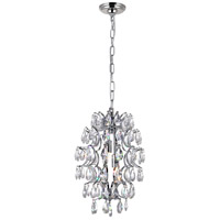 CWI Lighting 5011P9C-R-(CLEAR) Charismatic 2 Light 9 inch Chrome Pendant Ceiling Light