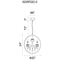 Chrome Crystals Bird Cage Chandeliers