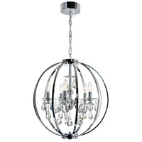 CWI Lighting 5025P22C-5 Abia 5 Light 22 inch Chrome Up Chandelier Ceiling Light