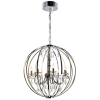 CWI Lighting 5025P34C-8 Abia 8 Light 34 inch Chrome Up Chandelier Ceiling Light