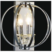 CWI Lighting 5025W10C-1 Abia 1 Light 8 inch Chrome Wall Light