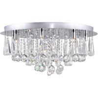 CWI Lighting 5035C24C-R Brianna 12 Light 24 inch Chrome Flush Mount Ceiling Light