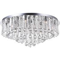 CWI Lighting 5035C32C-R Brianna 16 Light 32 inch Chrome Flush Mount Ceiling Light