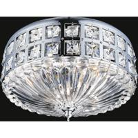 CWI Lighting 5039C13C Bloome 4 Light 13 inch Chrome Flush Mount Ceiling Light