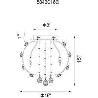 CWI Lighting 5043C16C Josie 4 Light 16 inch Chrome Flush Mount Ceiling Light