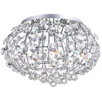 CWI Lighting 5043C24C Josie 10 Light 24 inch Chrome Flush Mount Ceiling Light