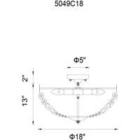CWI Lighting 5049C18AB Cornelius 4 Light 18 inch Antique Brass Flush Mount Ceiling Light