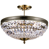 CWI Lighting 5049P18AB Cornelius 4 Light 18 inch Antique Brass Chandelier Ceiling Light