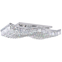 CWI Lighting 5051C39C-RC Ripple 18 Light 39 inch Chrome Flush Mount Ceiling Light